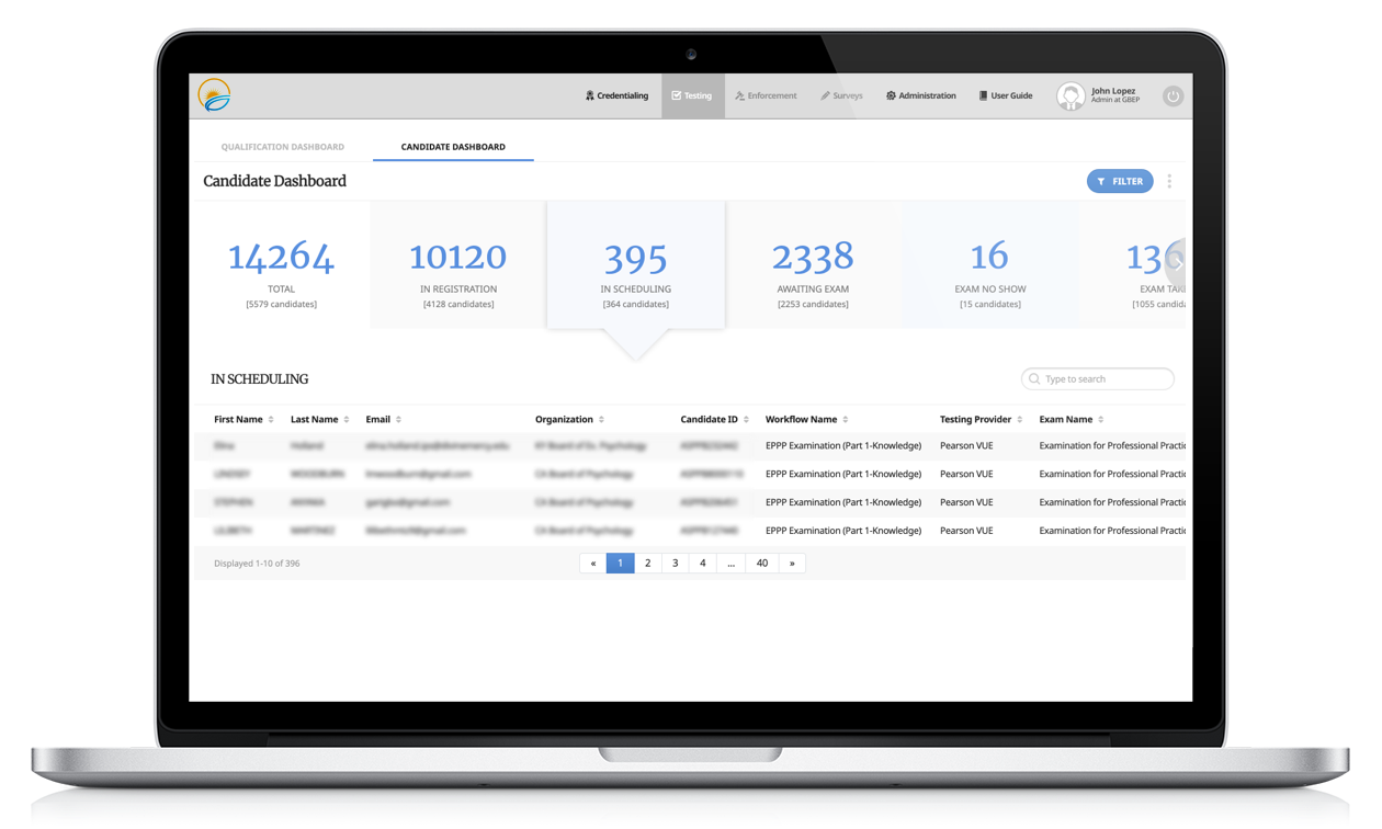 Certemy professional testing management software platform for professional credentialing and regulatory organizations